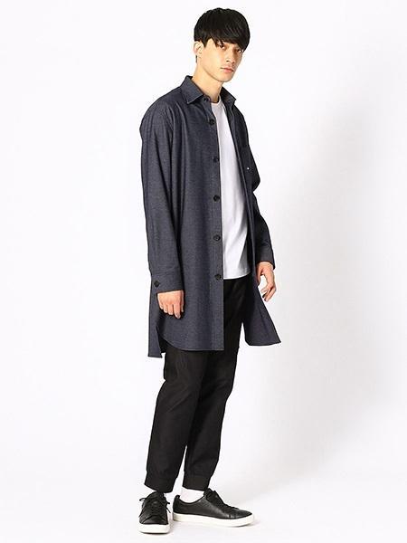COMME CA ISMの《デニムライク》ジャージーシャツコートショップコートを使ったコーディネートを紹介します。|Rakuten Fashion(楽天ファッション/旧楽天ブランドアベニュー)1020766