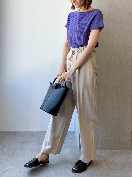nano・universeのAnti Soaked RIBボートネックTシャツを使ったコーディネートを紹介します。 Rakuten Fashion(楽天ファッション/旧楽天ブランドアベニュー)1021715