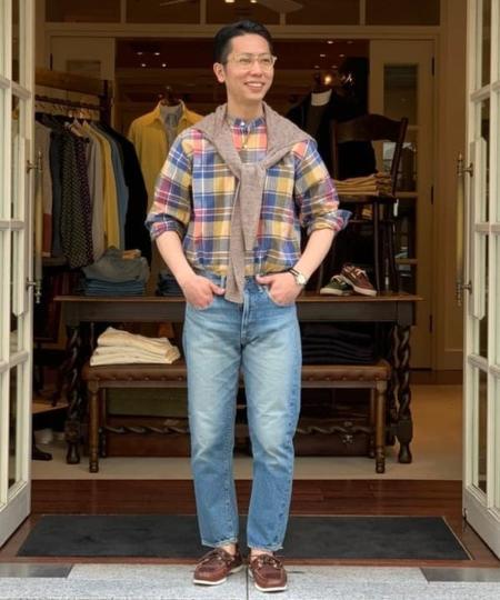 BEAMS MENのBEAMS PLUS / リネン カーディガンを使ったコーディネートを紹介します。|Rakuten Fashion(楽天ファッション/旧楽天ブランドアベニュー)1022346
