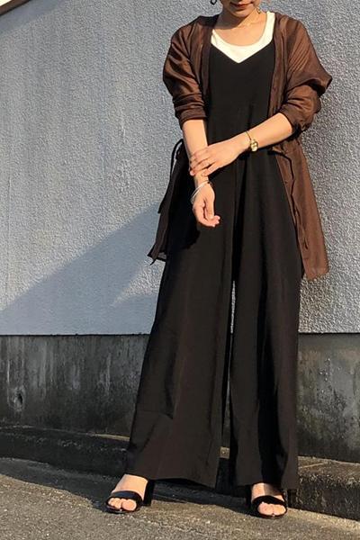 ViSのチュニックウエストドロストシアーブラウスを使ったコーディネートを紹介します。|Rakuten Fashion(楽天ファッション/旧楽天ブランドアベニュー)1022622
