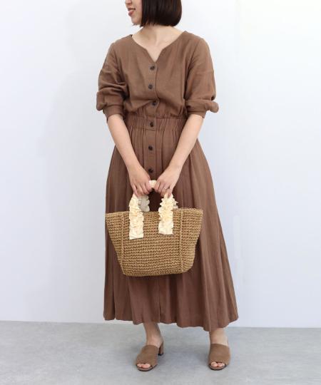 TrysilのT・S・L/ハンドルフリルペーパートートバッグを使ったコーディネートを紹介します。|Rakuten Fashion(楽天ファッション/旧楽天ブランドアベニュー)1023158
