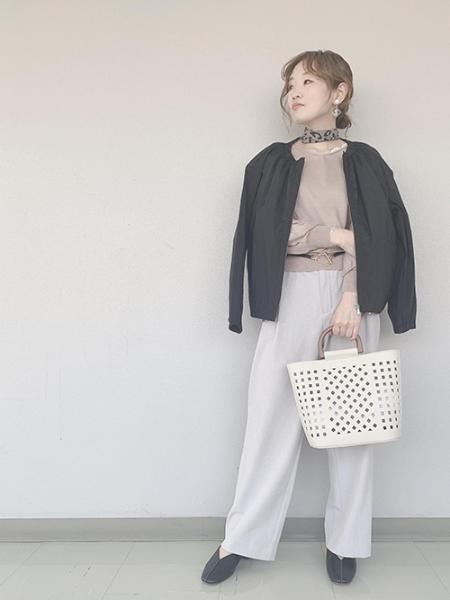 ROPE' PICNICの袖シアーニットプルオーバーを使ったコーディネートを紹介します。|Rakuten Fashion(楽天ファッション/旧楽天ブランドアベニュー)1023480