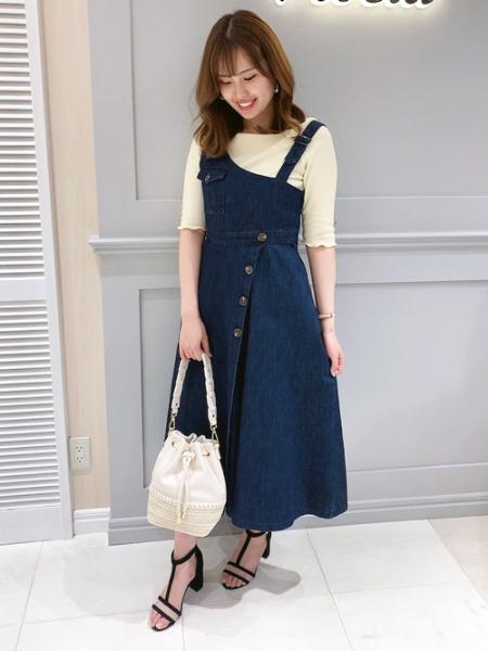 Noelaの異素材コンビ巾着BAGを使ったコーディネートを紹介します。|Rakuten Fashion(楽天ファッション/旧楽天ブランドアベニュー)1023500