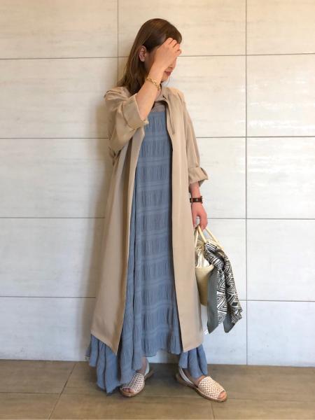 SHARE PARKのキュプラガウンコートを使ったコーディネートを紹介します。|Rakuten Fashion(楽天ファッション/旧楽天ブランドアベニュー)1023533