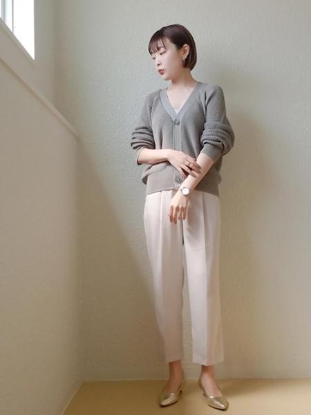 ROPE' PICNICのアイレットドルマンカーディガンを使ったコーディネートを紹介します。|Rakuten Fashion(楽天ファッション/旧楽天ブランドアベニュー)1023608