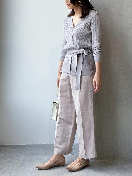nano・universeのリネンタッサーワイドパンツを使ったコーディネートを紹介します。|Rakuten Fashion(楽天ファッション/旧楽天ブランドアベニュー)1023806