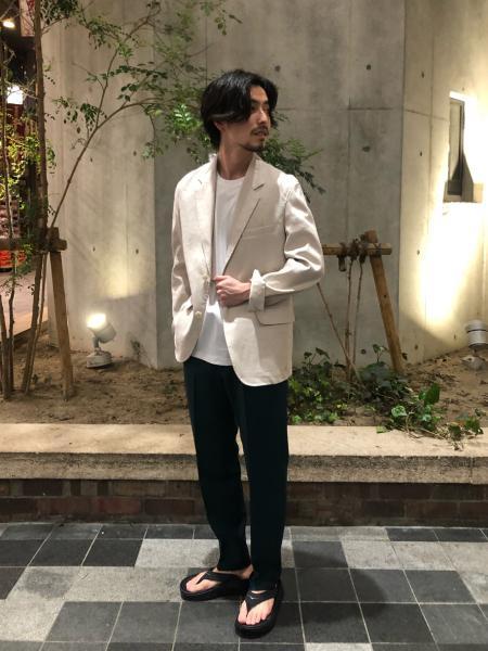 URBAN RESEARCHのリネンストレッチジャケットを使ったコーディネートを紹介します。|Rakuten Fashion(楽天ファッション/旧楽天ブランドアベニュー)1023999