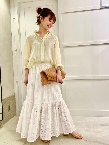 Spick&SpanのCuオーバーストライプSHを使ったコーディネートを紹介します。|Rakuten Fashion(楽天ファッション/旧楽天ブランドアベニュー)1024882