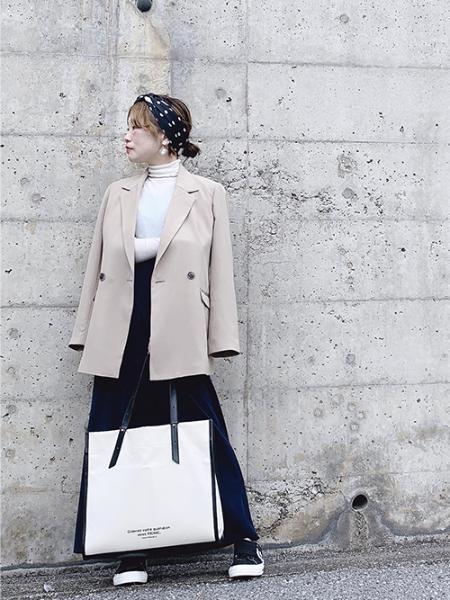 ROPE' PICNICのギボシハンドル裏ラミネートA4トートバッグを使ったコーディネートを紹介します。 Rakuten Fashion(楽天ファッション/旧楽天ブランドアベニュー)1025103