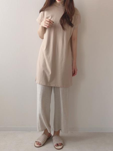 Bou Jeloudの【EC】ハイネックBIGTシャツを使ったコーディネートを紹介します。|Rakuten Fashion(楽天ファッション/旧楽天ブランドアベニュー)1026080