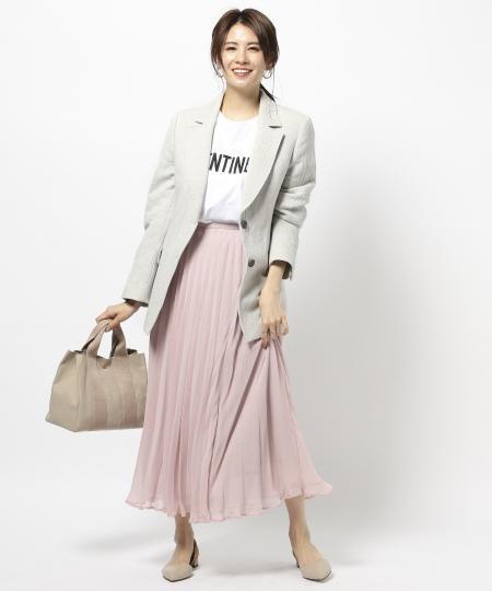 BABYLONEのレイヤードプリーツSKを使ったコーディネートを紹介します。|Rakuten Fashion(楽天ファッション/旧楽天ブランドアベニュー)1026192