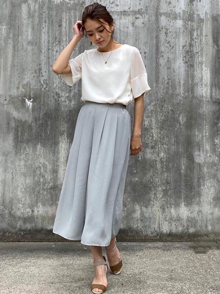 ROPE' PICNICのシフォンジョーゼットスカーチョを使ったコーディネートを紹介します。|Rakuten Fashion(楽天ファッション/旧楽天ブランドアベニュー)1026783