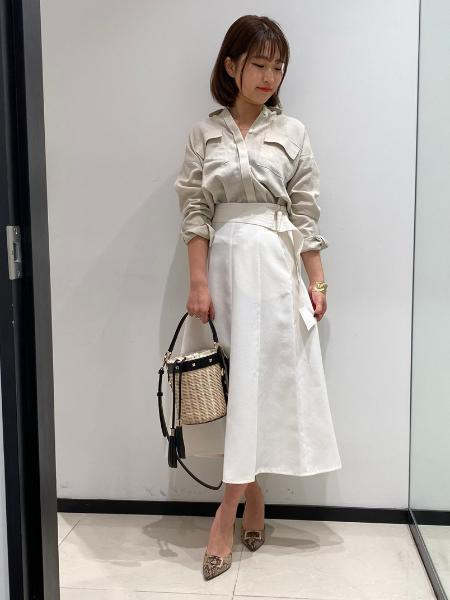 PINKY&DIANNEの◆麻調合繊ダブルポケットシャツを使ったコーディネートを紹介します。|Rakuten Fashion(楽天ファッション/旧楽天ブランドアベニュー)1027197