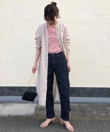 BABYLONEのリネンバンドカラーチュニックを使ったコーディネートを紹介します。 Rakuten Fashion(楽天ファッション/旧楽天ブランドアベニュー)1027739