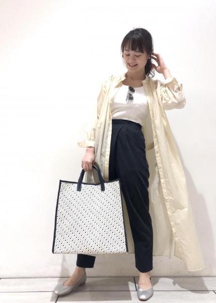 ROPE'の【セットアップ対応】レーヨンフィブリルタックテーパードパンツを使ったコーディネートを紹介します。|Rakuten Fashion(楽天ファッション/旧楽天ブランドアベニュー)1028505