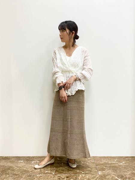 Le Talonのスクエアファブリックバレエ(21-255)を使ったコーディネートを紹介します。|Rakuten Fashion(楽天ファッション/旧楽天ブランドアベニュー)1030389