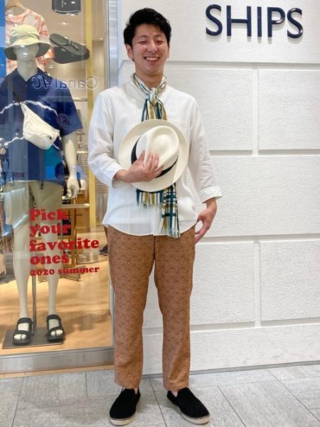 SHIPSのSC: RIRANCHA(R) プリント イージーパンツを使ったコーディネートを紹介します。|Rakuten Fashion(楽天ファッション/旧楽天ブランドアベニュー)1031079