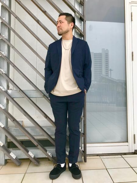 417 EDIFICEのCOOL DOTS イージースラックス【セットアップ着用可能】を使ったコーディネートを紹介します。 Rakuten Fashion(楽天ファッション/旧楽天ブランドアベニュー)1033800