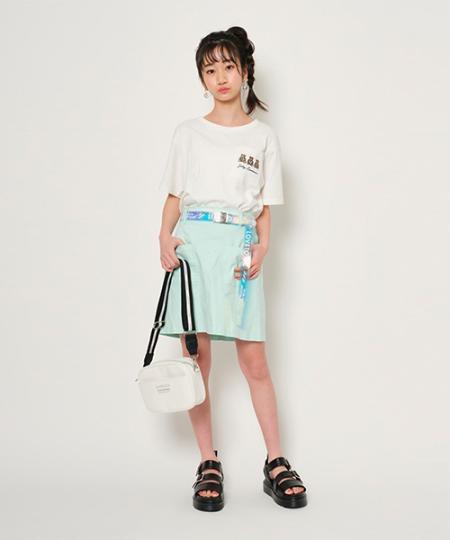 NARUMIYA ONLINEのクリアベルト付台形SKPを使ったコーディネートを紹介します。 Rakuten Fashion(楽天ファッション/旧楽天ブランドアベニュー)1033924