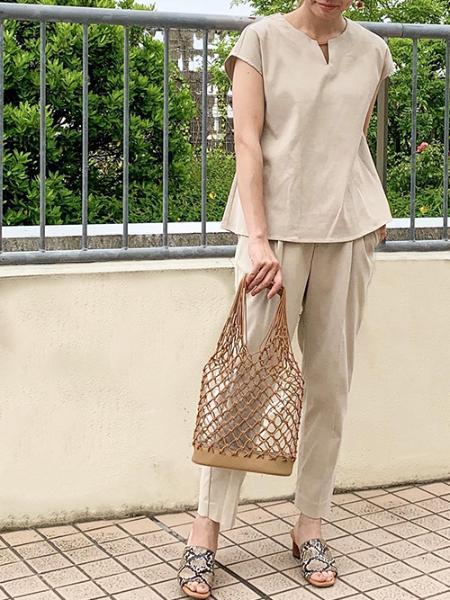 ROPE' PICNICのロープまくらめ*ビニールトートバッグを使ったコーディネートを紹介します。|Rakuten Fashion(楽天ファッション/旧楽天ブランドアベニュー)1033927