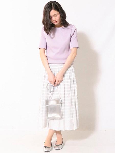 COMME CA ISMの《リバーシブル》ボーダー ゴムスカートを使ったコーディネートを紹介します。|Rakuten Fashion(楽天ファッション/旧楽天ブランドアベニュー)1034975