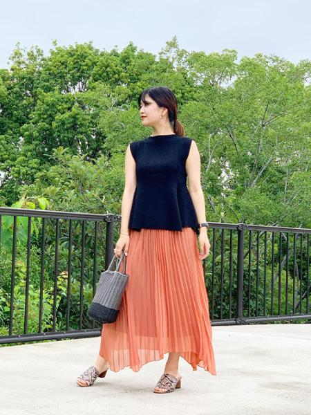 ROPE' PICNICのビニールチューブバスケットバッグを使ったコーディネートを紹介します。|Rakuten Fashion(楽天ファッション/旧楽天ブランドアベニュー)1037507