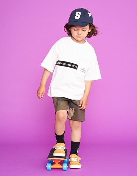 NARUMIYA ONLINEのライン切替えビッグTシャツを使ったコーディネートを紹介します。|Rakuten Fashion(楽天ファッション/旧楽天ブランドアベニュー)1038507