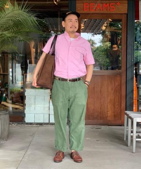 BEAMS MENのBEAMS PLUS / ミリタリー ユーティリティーパンツを使ったコーディネートを紹介します。|Rakuten Fashion(楽天ファッション/旧楽天ブランドアベニュー)1039108