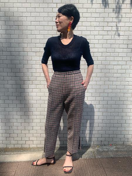 VERMEIL per ienaのシースルーリネンリブUネックプルオーバー◆を使ったコーディネートを紹介します。|Rakuten Fashion(楽天ファッション/旧楽天ブランドアベニュー)1039546