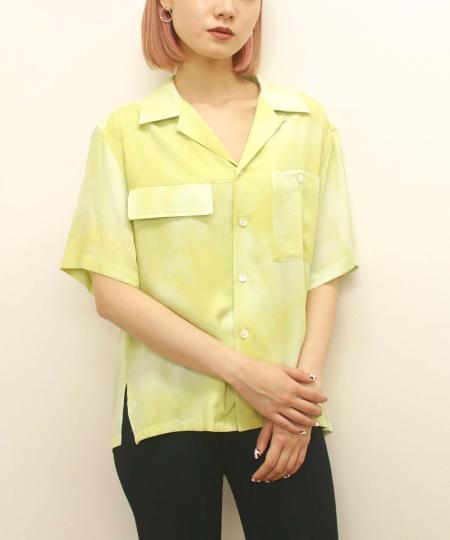 grapevine by k3のG.V.G.V./(W)TIE DYED OPEN COLLAR SHIRTを使ったコーディネートを紹介します。|Rakuten Fashion(楽天ファッション/旧楽天ブランドアベニュー)1039760