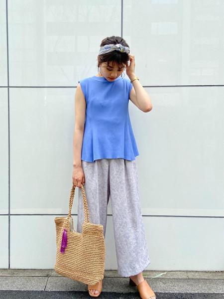 ROPE' PICNICのボタニカル麻調パンツを使ったコーディネートを紹介します。|Rakuten Fashion(楽天ファッション/旧楽天ブランドアベニュー)1040941