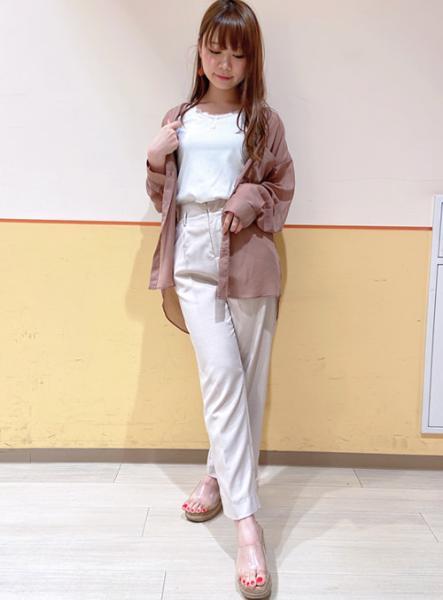 INGNIのシアーバンドカラー/SHを使ったコーディネートを紹介します。|Rakuten Fashion(楽天ファッション/旧楽天ブランドアベニュー)1041028