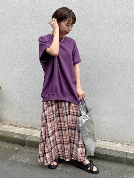 SHIPSのSHIPSany:チェックマキシスカートを使ったコーディネートを紹介します。|Rakuten Fashion(楽天ファッション/旧楽天ブランドアベニュー)1041188