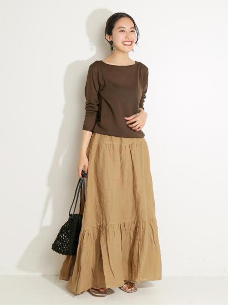 VERMEIL per ienaの【ROBERTO COLLINA/ロベルトコリーナ】別注ハイゲージウールニットプルオーバー◆を使ったコーディネートを紹介します。 Rakuten Fashion(楽天ファッション/旧楽天ブランドアベニュー)1041484