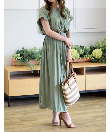 Eimy Pearl by POWDER SUGARのベルト付きシャツワンピースを使ったコーディネートを紹介します。|Rakuten Fashion(楽天ファッション/旧楽天ブランドアベニュー)1042150