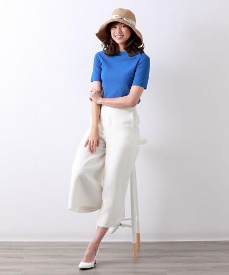 AMACAのコットンストレッチリンクスニットを使ったコーディネートを紹介します。|Rakuten Fashion(楽天ファッション/旧楽天ブランドアベニュー)1043025