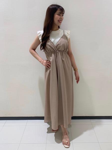 INGNIのラメシアーキャミ/OPを使ったコーディネートを紹介します。|Rakuten Fashion(楽天ファッション/旧楽天ブランドアベニュー)1043253