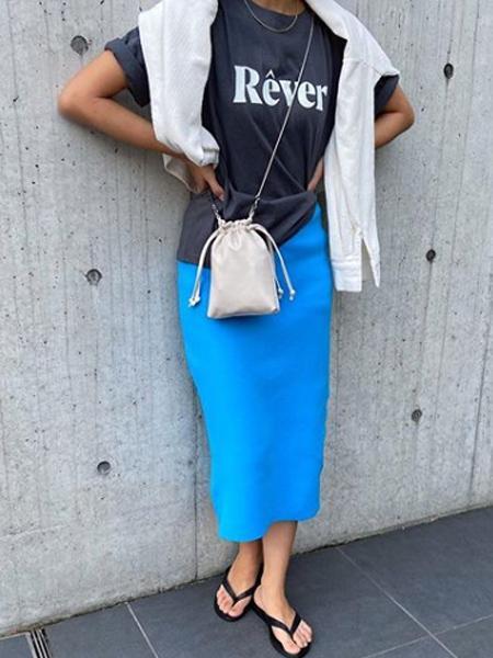 cocaのニットタイトスカートを使ったコーディネートを紹介します。|Rakuten Fashion(楽天ファッション/旧楽天ブランドアベニュー)1043292