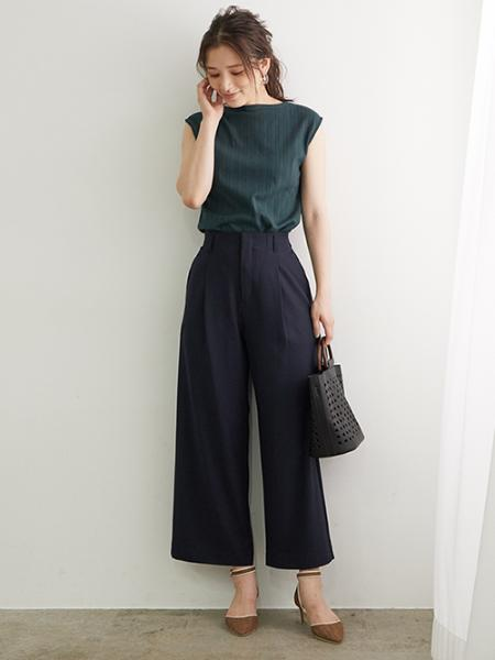ROPE' PICNICの【汗染み防止】ランダムテレコフレンチスリーブトップスを使ったコーディネートを紹介します。 Rakuten Fashion(楽天ファッション/旧楽天ブランドアベニュー)1043747