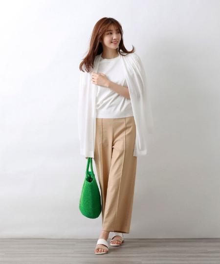 AMACAのハイゲージジャージロングカーディガンを使ったコーディネートを紹介します。 Rakuten Fashion(楽天ファッション/旧楽天ブランドアベニュー)1043962