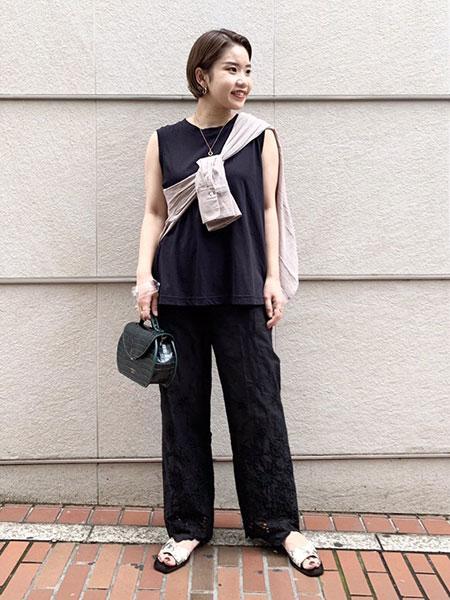 SLOBE IENAのドライコットンタンクトップ◆を使ったコーディネートを紹介します。|Rakuten Fashion(楽天ファッション/旧楽天ブランドアベニュー)1044131