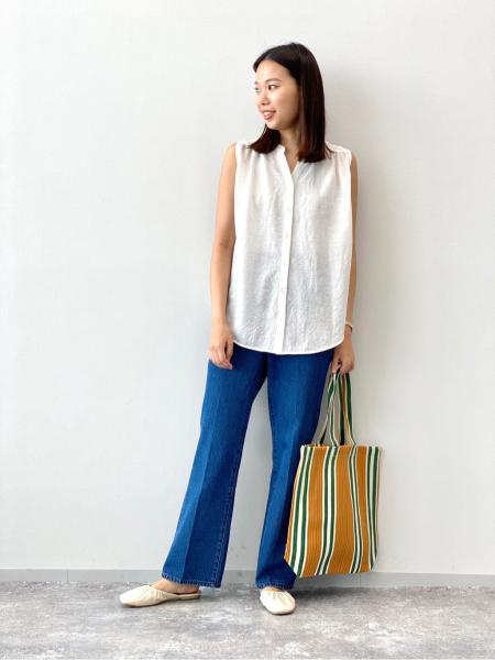 LAKOLEの(W)ギャザースリッパサンダルを使ったコーディネートを紹介します。 Rakuten Fashion(楽天ファッション/旧楽天ブランドアベニュー)1044521