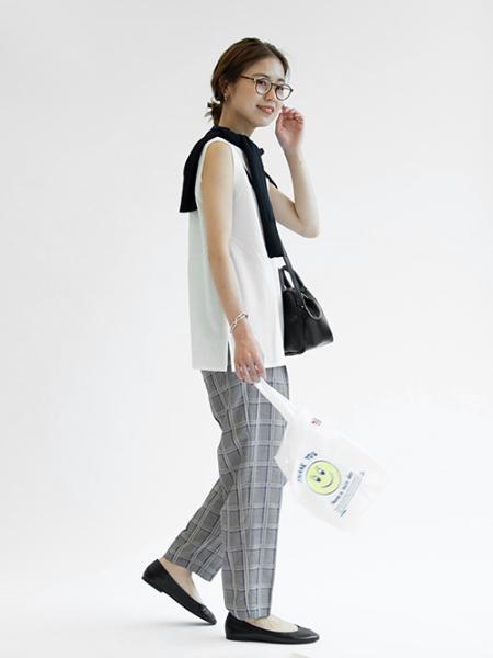 JOURNAL STANDARD relumeのビスコース*ポリエステルチェックHWワイドテーパードパンツ◆を使ったコーディネートを紹介します。|Rakuten Fashion(楽天ファッション/旧楽天ブランドアベニュー)1045322