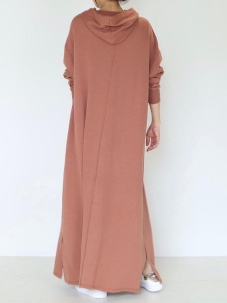 Bou Jeloudのフーディーフレアスウェットロングワンピースを使ったコーディネートを紹介します。|Rakuten Fashion(楽天ファッション/旧楽天ブランドアベニュー)1045483