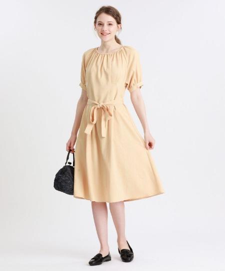 MACKINTOSH PHILOSOPHYのポリエステルリネンワンピースを使ったコーディネートを紹介します。|Rakuten Fashion(楽天ファッション/旧楽天ブランドアベニュー)1045947