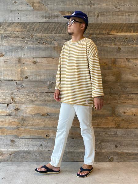 JOURNAL STANDARD relumeの【PICCADILLY for relume / ピカデリー】別注 MARINIERE Tシャツを使ったコーディネートを紹介します。|Rakuten Fashion(楽天ファッション/旧楽天ブランドアベニュー)1046255