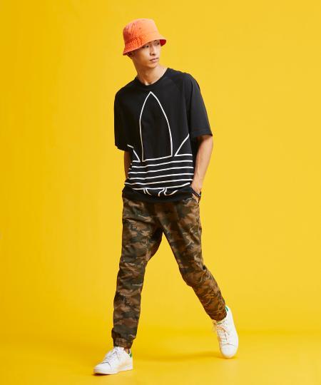 adidasのビッグ トレフォイル アウトライン Tシャツ [BG TRF OUT TEE] アディダスオリジナルスを使ったコーディネートを紹介します。|Rakuten Fashion(楽天ファッション/旧楽天ブランドアベニュー)1046631