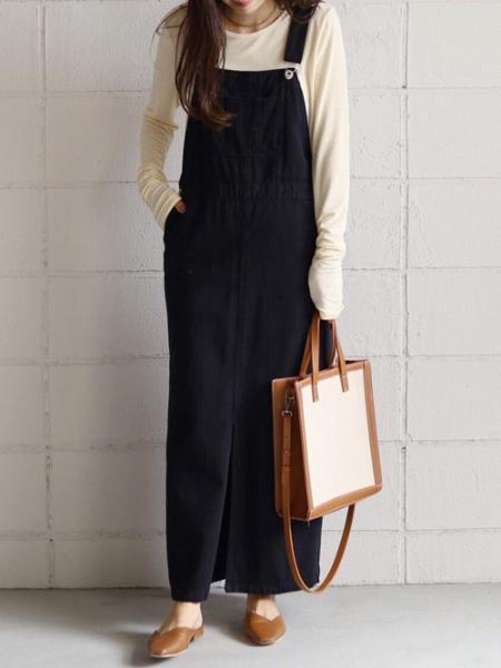 Bou Jeloudの【EC】ツイルジャンパースカートを使ったコーディネートを紹介します。|Rakuten Fashion(楽天ファッション/旧楽天ブランドアベニュー)1046882