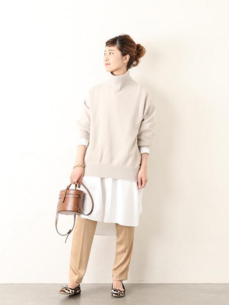 Spick&Spanのハンマーサテン テーパードパンツ◆を使ったコーディネートを紹介します。|Rakuten Fashion(楽天ファッション/旧楽天ブランドアベニュー)1046922