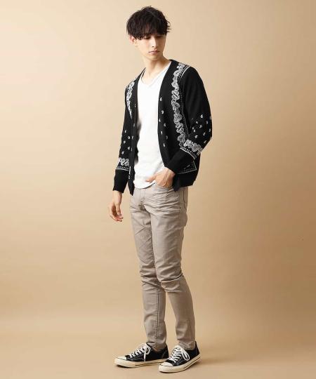 MK MICHEL KLEIN hommeのカーディガン/パネルダブルを使ったコーディネートを紹介します。|Rakuten Fashion(楽天ファッション/旧楽天ブランドアベニュー)1047004